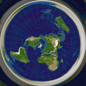 Exponential map (Riemannian geometry) - The exponential map of the Earth as viewed from the north pole is the polar azimuthal equidistant projection in cartography.