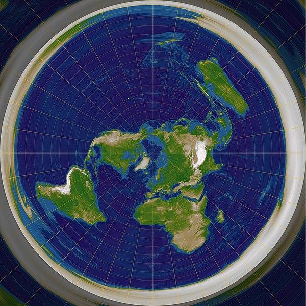 Земля является плоским диском 40 000 километров в диаметре, с центром в районе Северного полюса - Солнце и Луна...