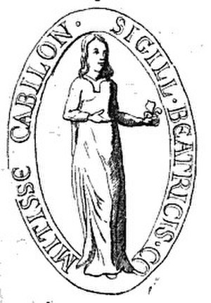 Beatrice of Albon - Seal of Beatrice of Albon