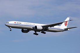 B-2043 - Air China - Boeing 777-39L(ER) - PEK (15274806201).jpg