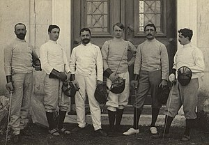 Greece at the 1896 Summer Olympics - Group of French and Greek fencers at 1896 Summer Olympics