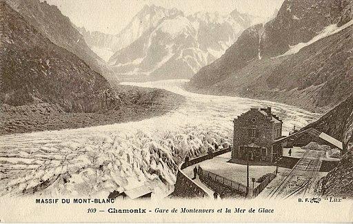 BF Lux 109 - MASSIF DU MONT-BLANC - CHAMONIX - Gare du Montenvers et la Mer de Glace