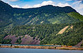 BNSF Railway at Drano Lake - Columbia River, Washington-Oregon Border (22144413044).jpg