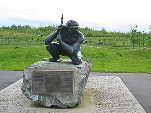 Bagworth and Thornton - A statue of a coal miner in Bagworth, to commemorate the village's heritage.