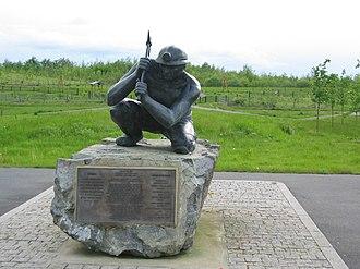 Bagworth - Image: Bagworth Miner Statue