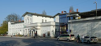 Bernau bei Berlin station - Image: Bahnhof Bernau (2009)