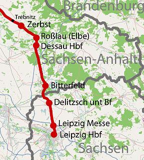 Trebnitz–Leipzig railway German railway line