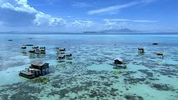 A typical Sama-Bajau settlement in the Philippines