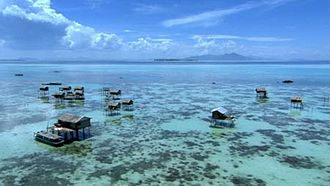 Sama-Bajau - A typical Sama-Bajau settlement in the Philippines