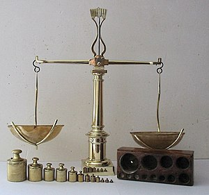 Design of experiments - Image: Balance à tabac 1850
