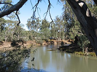 Balranald - The former site of the wharves on the Murrumbidgee River