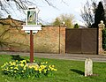 Balsham village sign and Icknield Way milestone - geograph.org.uk - 745755.jpg