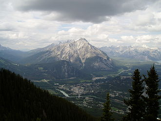 Cascade Mountain (Alberta) - Cascade Mountain as seen from Sulphur Mountain