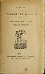 Banville - Œuvres, Odes funambulesques.djvu