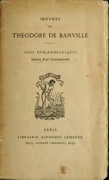 File:Banville - Œuvres, Odes funambulesques.djvu