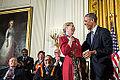 Barack Obama presents the Presidential Medal of Freedom to Meryl Streep November 2014.jpg