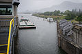 Barge Approaching Navigation Locks, Bonneville Dam-2.jpg