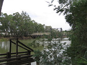 Barham, New South Wales - The lift span bridge over the Murray River to Koondrook, Victoria