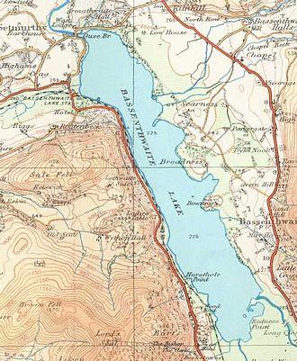 Bassenthwaite Lake - Map (1925)