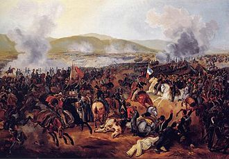 Battle of Maipú - Battle of Maipú, painted in 1837