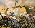 Battle of Fort Fisher flags stockade.jpg
