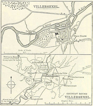 Battle of Villersexel - Image: Battle of Villersexel area map