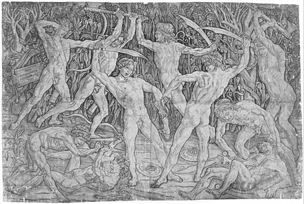 "Antonio Pollaiuolo, ""Battle of the Nude Men"" Battle of the Naked Men MetNY.jpg"