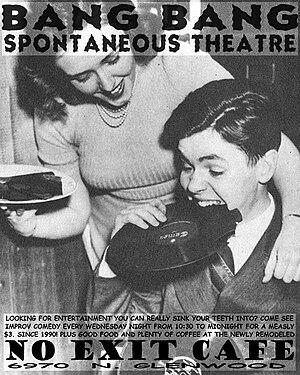 Bang Bang Spontaneous Theatre - Flyer for Bang Bang Spontaneous Theatre at No Exit Cafe