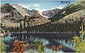 Bear Lake (alt. 9,550 ft.) Rocky Mountain National Park, Colorado, Long's Peak (alt. 14,255 ft.) and Glacier Gorge in background (7725170442).jpg