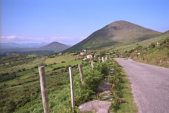 Beara Peninsula - View from the Healy Pass looking north with the heights of the Iveragh peninsula on the horizon