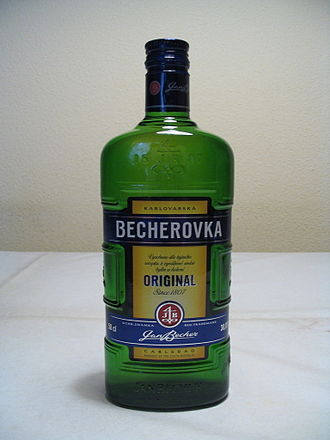 Becherovka - A bottle of Becherovka