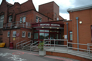 Cauldwell, Bedford - Bedford Hospital is located in Cauldwell