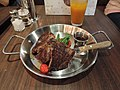 Beef steak with side dish in dinner.jpg
