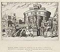 Belegering van de Engelenburcht, 1527 Overwinningen van Karel V (serietitel) Divi Caroli. V. imp. opt. max. victoriae, ex multis praecipuae (serietitel), RP-P-1950-201D.jpg