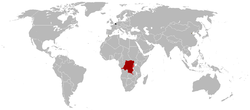Map of the Belgian colonial empire around 1920.