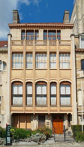 Art Nouveau in Brussels - Image: Belgique Bruxelles Hôtel Van Eetvelde 01