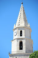 Bell tower of Notre Dame des Accoules Church, Marseille, Provence-Alpes-Côte d'Azur, Southeastern France , Western Europe