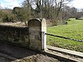 Bench mark on the bridge at Duddington - geograph.org.uk - 1737801.jpg