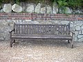 Bench on seafront walk dedicated to Alfred Bone lost at The Somme 1916 - geograph.org.uk - 1404871.jpg