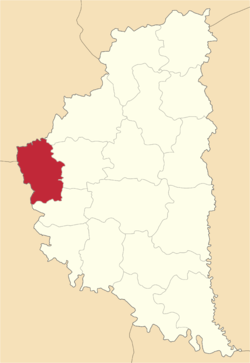 Location of Berežanu rajons