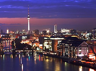 "Berlin is a UNESCO ""City of Design"" and recognized for its creative industries and startup ecosystem. Berlin Mitte by night.JPG"