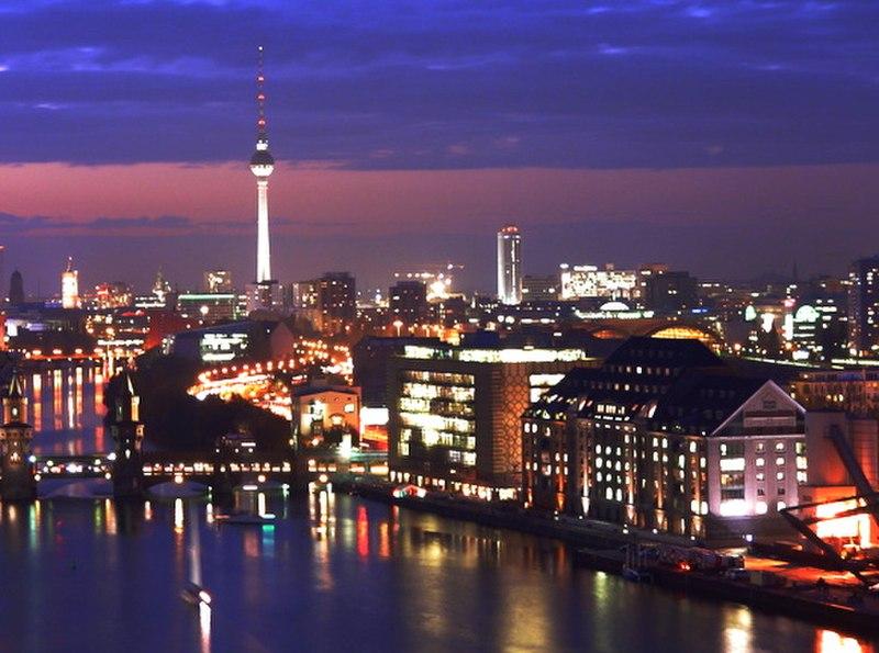 Berlin Mitte by night