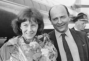 Betsy Blair - Blair with her husband Karel Reisz in 1966