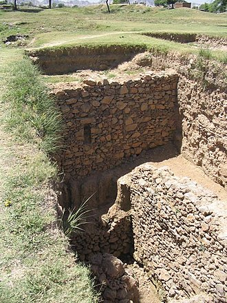 Achaemenid conquest of the Indus Valley - Ruins at Bhir Mound representing the city of Taxila during the Achaemenid period