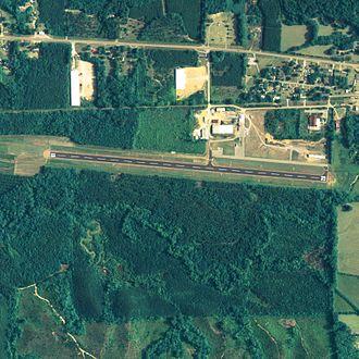 Bibb County Airport - NAIP aerial image, 29 June 2006