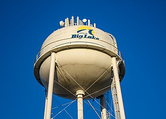 Big Lake, Minnesota - Big Lake's central water tower at Lakeside Park