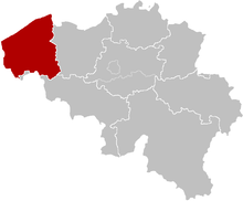 The diocese of Bruges, coextensive with the province of West Flanders