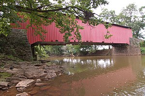 Bitzer's Mill Covered Bridge - One of the sides of the bridge