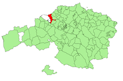 Location of Getxo in Biscay