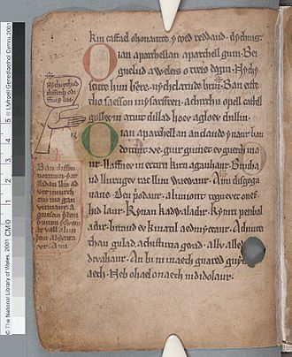 Black Book of Carmarthen - Black Book of Carmarthen (f.29.v)